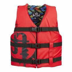 Full Throttle 112200-100-002-19 Youth Life Jacket Nylon-Red