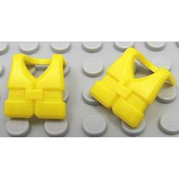 NEW Lot/2 Lego Minifig YELLOW LIFE JACKETS Sailor Ship & Boa