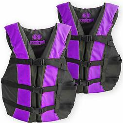 2 Pack Hardcore Adult Life Jacket PFD Type III Coast Guard S