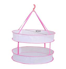 DRAGON SONIC 2-Tier Folded Mesh Clothes Hanging Dryer T-shir