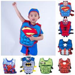 2019 Super Hero Life Jacket Sports Swimming Kid Floating Swi