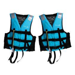 2pcs/Set Adult Life Jacket Vest Swimming Canoe Jet Ski Surfi