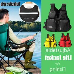 3 colors Adjustable Life Jacket Vest Adult PFD Aid Swimming