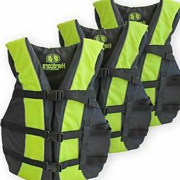 3 Pack Hardcore Adult Life Jacket PFD Type III Coast Guard S