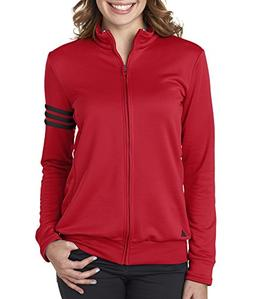 Adidas Women's 3 Stripes Full Zip Pullover Jacket, Medium, U