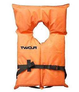 Flowt 40000-OS AK-1 Type II Life Jacket, Orange, Adult Overs