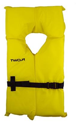 Flowt 40003-UNV AK-1 Type II Life Jacket, Yellow, Adult Univ