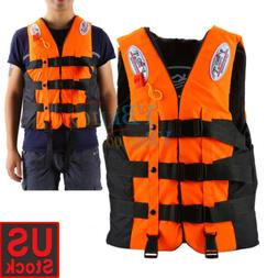 4pcs Polyester Adult Life Jacket Swimming Boating Ski Vest U
