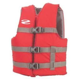 50 - 90 LB Child Red Boating Vest 3 Adjustable Belts Only On