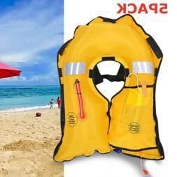 5PC Universal Adult Manual Life Jacket Vest Inflatable Survi