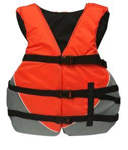 Adult Life Vest Universal OVERSIZE Life Jacket USCG Ski Vest