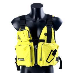 Aid Sailing Kayak Fishing Life Jacket Vest Boat - D13 -Yello