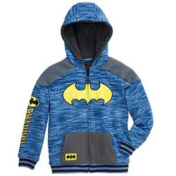 C-Life DC Comics Batman Little Boys Sherpa Fleece Zip Up Hoo