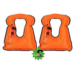 DEHUI GLOBLE Adult Portable Inflatable Canvas Life Jacket Sn