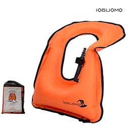 Life Jackets Omouboi Unisex Child Inflatable Snorkel Vest Sn