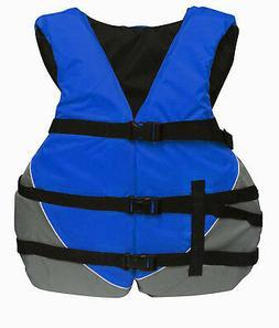 MW Adult Oversize Life Jacket Universal Ski Vest Blue XXL 2X