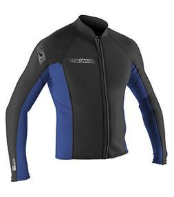 O'Neill Wetsuits Mens Superlite Jacket, Black/Pacific, XX-La