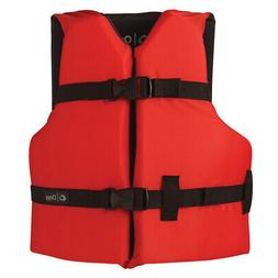Onyx Outdoor 103000-100-002-12 Youth Onyx Boating Vest Red