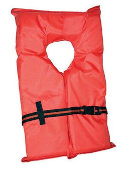 Type II Orange Life Jacket Vest PFD - Adult Universal - US C