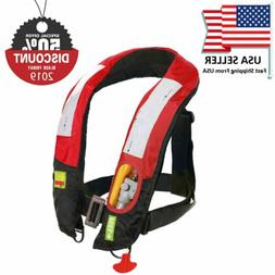 A/M-33 Automatic + Manual Inflatable Life Jacket Lifevest PF