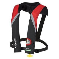 ONYX A-24 IN-SIGHT AUTOMATIC INFLATABLE LIFE JACKET RED