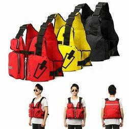 Adjustable Adult Life Jacket Marine Reflective Sailing Kayak