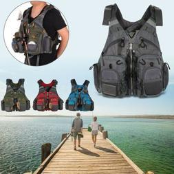 Adjustable Adults Buoyancy Fishing Life Jacket Swimming Surf