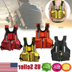 Adjustable kayak Fishing Swimming Life Jacket Rafting Canoe