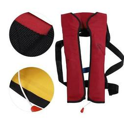 Adjustable Swimming Inflatable Safety Life Jacket Hand-In-On