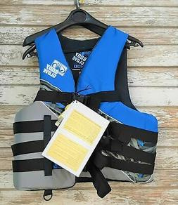 Body Glove Adult L/XL USCG Type III Life Jacket Nylon Ski Ve