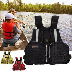 Adult Adjustable Life Jacket Marine Reflective Sailing Kayak