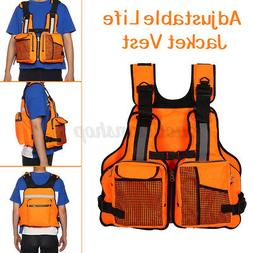 Adult Adjustable Life Jacket Vest Fishing Vest Kayak Reflect