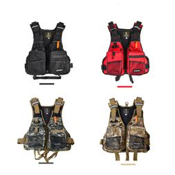 Adult Adjustable Safety Life Jacket Survival Vest Swimming B