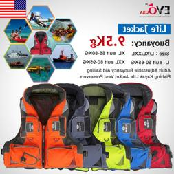 Adult Adjustable Safety Life Jacket Survival Vest Swimming B