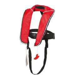 red inflatable life vest adult classic automatic