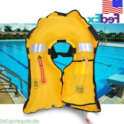 Adult CO2 Automatic Inflatable PFD Life Jacket Vest Preserve