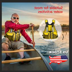 Adult Life Jacket Aid Sailing Boating Swimming Kayak Fishing