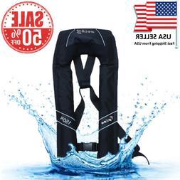 Adult Inflatable Life Jacket Automatic Manual Vest Lifesavin