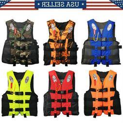 Adult Kid Safety Life Jacket Aid Sailing Boating Swimming Fi
