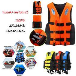 Adult Kids Life Jacket Kayak Ski Buoyancy Aid Vest Sailing F