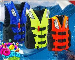 Adult Kids Life Jacket Swimming Buoyancy Aid Polyester Swim