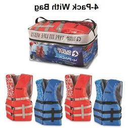 Life Jacket 4-Pack Adult Universal Preserver USCG Type III F
