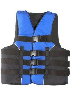 Adult Life Jacket Deluxe USCG 4-Buckle Dual Sized PFD Ski Ve