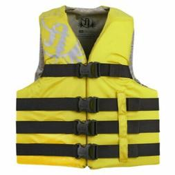 Full Throttle Adult Life Jacket Nylon 2XL-4XL-Yellow