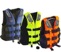 Adult Life Jacket Swimming Boating Ski Vest+Whistle Sailing