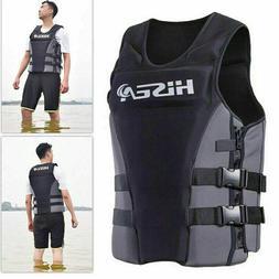 Unisex S-3XL Neoprene Life Jacket Vest for Water Rescue Surf