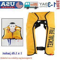 Adult Manual Automatic Inflatable Life Jacket Inflation 150N
