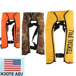 Adult Manual Inflatable Life Jacket TPU Nylon Survival Vest