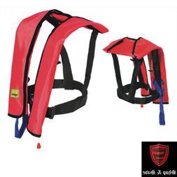 Adult Manual Inflatable Life Jacket Vest 150N PFD Survival F