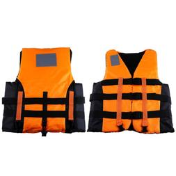 Adult Polyester Life Jacket Buoyancy Vest Swimming Boating R